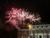 The fireworks on Denny Street on New Year's Eve. Photo by Dermot Crean