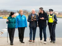 The countdown is on for the Operation Transformation walk this Saturday, January 12th at 11am at Tralee Bay Wetlands Centre. Pictured are some of the people who make the walk safe & successful, from left; Córa Carrigg, Co-ordinator, Kerry Recreation & Sports Partnership (KRSP), Mary O' Connor, Manager, Tralee Bay Wetlands Centre,  Jimmy Deenihan, Chairman, KRSP, Nathan McDonnell, Ballyseede Café and Garda Danielle O' Connell, Tralee Garda Station. The event is organised by Kerry Recreation and Sports Partnership in conjunction with Kerry County Council. Pic: Pauline Dennigan
