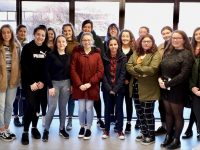 Past pupils of Presentation Secondary School met with current pupils to share their knowledge on Friday.