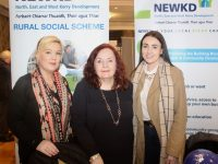 Jennifer O'Sullivan Coffey, Sheila Cronin and Susanna Kiely of NEWKD at the Progressive Pathways Fair on Wednesday. Photo by Dermot Crean