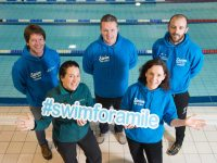 Pictured at the launch of the Swim for a Mile programme beginning February 4th at Tralee, Ballybunion and Killarney Sports & Leisure Complexes are from left; John Edwards, Swim Coach, Finbar Griffin, Manager, Tralee Sports & Leisure Complex, Kieran Kennelly, Swim Coach, Ballybunion Health & Leisure Centre, Córa Carrigg, Coordinator, Kerry Recreation & Sports Partnership (KRSP) and Martina Lawless, Programme Facilitator, Swim for a Mile. See www.kerryrecreationandsports.ie to sign up. Pic: Pauline Dennigan