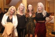 Sinead Scannell, Mallory Higgins, Orla Begley and Joanna Lynch at the Bon Jovee concert  fundraiser at The Brandon Hotel on Saturday night. Photo by Dermot Crean