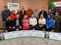 Cara Credit Union staff with representatives of the five groups awarded Lauri Healy Sponsorship Awards.
