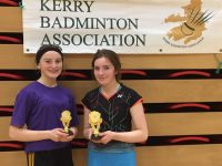U-17Kerry Girls Singles Championships Left  Valerie Guiney - Listowel (Winner) Right Grace Guiney - Listowel (Runner Up).