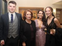 Darragh Shanahan, Denise Sheehy, Emma Casey and Juliette Clifford at the Lixnaw GAA Victory Social at Ballyroe Heights Hotel on Saturday night. Photo by Dermot Crean