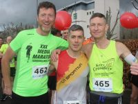 Wayne Young, Trevor Leen and Chris Grayson at the Optimal Fitness 10 Miler and 5k event on Saturday morning. Photo by Dermot Crean
