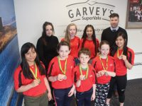 Members of the Rock Street/Caherlsee Community Games with Helen Griffin and Chris O'Driscoll of Garvey's Supervalu Tralee. Photo by Dermot Crean