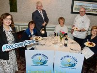 Launching the 'Celebrity Chef' fundraiser in aid of Recovery Haven were Sales and Marketing Manager of The Rose Hotel Aisling Foley, Phil Stack of Recovery Haven, General Manager of The Rose Hotel Mark Sullivan, Carol Barry of Recovery Haven, Head Chef at The Rose Hotel Odran Lucey and Maureen O'Brien of Recovery Haven. Photo by Dermot Crean