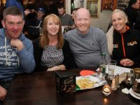 Giles Hoffman, Lorna White, Brian White and Marilyn O'Shea at the table quiz in aid of the Irish Heart Foundation at Kirby's Brogue Inn on Wednesday night. Photo by Dermot Crean