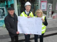 Ned O'Shea (contractor) with Peter Harty and Claire Harty of CH Tralee who have announced a €1.5m revamp of their store at The Mall. Photo by Dermot Crean