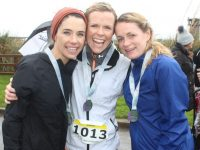Sorcha Keoghan, Sandra Egan and Denise O'Connor at the finish line. Photo by Dermot Crean