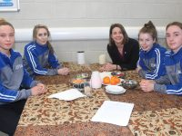 Kerry Murphy, Shannon Quill, Linda O'Shea (Tutor), Katie Ferriter and Leah O'Neill taking part in Health Promotion Day at Kerry College of Further Education on Tuesday. Photo by Dermot Crean