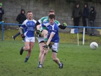 Jamie Lowham fires a goal for Na Gaeil against Kerins O'Rahillys. Photo by Dermot Crean
