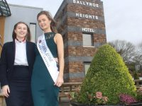 Jennifer Conway of Ballyroe Heights Hotel with Celine O'Shea, Kerry Rose 2018, launching the search for this year's Kerry Rose. Photo by Dermot Crean