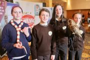 Students at the Donal Walsh Livelife Film Competition Awards on Wednesday at the Brandon Hotel Conference Centre. Photo by Dermot Crean