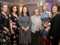 Melissa Nix, Rachel Browne, Rebecca Ryan Griffin, Dolly Molloy, Claire Molloy and Trish Molloy at Mary O'Donnell's 'Capsule' event in The Ashe Hotel on Saturday evening. Photo by Dermot Crean