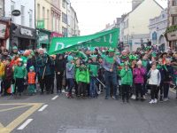 Na Gaeil members taking part in the St Patrick's Day parade.