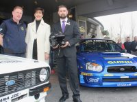 PJ Dowd with Cathaoirleach of Kerry County Council Norma Foley and David Fitzgerald, Operations Manager at The Rose Hotel at the launch of the Circuit of Kerry Rally at The Rose Hotel on Saturday. Photo by Dermot Crean