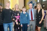Pupil Barry Nagle (centre) with Joey, Eileen, Malachy and Katie Nagle at the Scoil Eoin Confirmation Day in Our Lady and St Brendan's Church on Friday. Photo by Dermot Crean