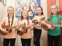 Pupils prior to taking part in the Presentation Primary School 'No Boundaries' concert at Siamsa Tíre on Thursday night. Photo by Dermot Crean