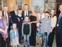 Caherleaheen NS pupil Sean Óg Brosnan who made his Confirmation on Friday, with family at St John's Church. Photo by Dermot Crean
