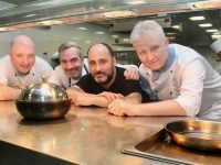 Looking forward to the All-Ireland Tapas and Pintxo Championships at IT Tralee to be held next month were Chef Robert Curley, John Harty of Taste Kerry, Chef Gorka Arrieta and Mark Murphy, Lecturer in Culinary Arts at IT Tralee. Photo by Dermot Crean