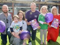 Launching the 90s Disco in aid of Kerry Branch of Cystic Fibrosis Ireland were Stuart, Harry, Karen and Emily Twamley with Kieran Donaghy and Orlagh Winters. Photo by Dermot Crean