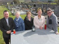 Looking forward to the Easter Sunday Dawn Mass at Annagh Graveyard on Easter Sunday were,  Fr Francis Nolan, Breda Browne, Carmel Counihan, Mary Glazier and Brendan O'Brien. Photo by Dermot Crean