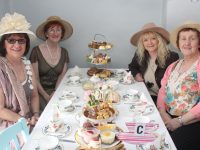 Camille Ryan, Avril O'Shea, Lily Kirby and Bernadette Tangney at the Vintage Afternoon Tea fundraiser at O'Riordan's in Ardfert on Sunday. Photo by Dermot Crean
