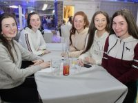 Ciara Rath, Ciara Bowler, Emma Buckley, Ciara Landers and Holly Geary at the fundraising table quiz for Ballymac Community Games on Friday night at the Earl of Desmond Hotel. Photo by Dermot Crean