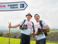 Cha-cha the Camino for CRY with Aidan O'Mahony!  Five time All-Ireland winner and the country's first winner of Dancing With The Stars, Aidan O'Mahony, is calling on the public to join him in walking the Camino de Santiago to raise vital funds for Cardiac Risk in Young (CRY) Ireland to save young lives from Sudden Cardiac Death on 7-14th September. Pictured at the launch from left; are Liam Herlihy from CRY and Aidan O' Mahony. To find out how you can join Aidan on the Camino see cry.ie. Pic: Pauline Dennigan