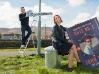 Politicians need to display leadership in the fight against single use plastic and show the next generation that they care about the environment. Pictured at the launch in Tralee of Candidates.ie, a website where voters can find out more about their local politicians running for election without the use of posters are Brian Stephenson, founder, Candidates.ie with Annette Grealish, Project Manager, NoteCloud. Pic: Pauline Dennigan. No fee for repro