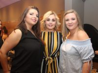 Louise Moriarty, Michelle Diggins and Michelle Walsh at the Causeway GAA Strictly Come Dancing at Ballyroe Heights Hotel on Friday night. Photo by Dermot Crean