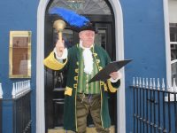 General Manager of The Imperial Hotel Derek Carroll dressed as the Town Crier.