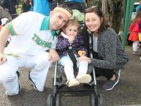 Kieran, Kiera and Julie O'Shea at the Easter Fun Run in the Town Park on Saturday afternoon. Photo by Dermot Crean