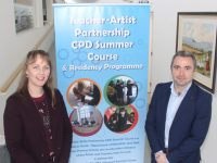 Arts Officer, Kerry County Council, Kate Kennelly and Director of the Education Centre, Terry O'Sullivan launching the 'Call Out For Artists'. Photo by Dermot Crean