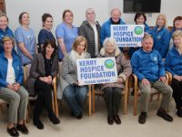 At the launch of the Kerry Hospice Good Friday walks at the Palliative Care Unit on Thursday evening were, front from left; Maura Sullivan, Dr Patricia Sheahan, Deirdre Walsh, Breda Moynihan, Joe Hennebery and Mairead Fernane. At back; Maura Casey, Eilish Herlihy, Tina Bolger, Ted Moynihan, Michael 'Fox' Connor, Mary Shanahan Norma Lee and Noreen O'Leary.  Photo by Dermot Crean