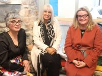 Cathy Troth, Orlagh Winters and Theresa Kelliher at the launch of the Turning Tide Creative Project at Maddens on Milk Market Lane on Thursday evening. Photo by Dermot Crean