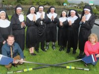 Looking forward to the Nuns record breaking attempt in the Town Park next month in aid of Tralee Rowing Club were, in front, Co-ordinator of Féile na mBláth Festival Bryan Carr and Celine Cusack. At back; Rosie Giles, Dan Devane, Heidi Giles, Glen Wells, Brian O'Sullivan, Miriam Pope, Con O'Connor of Pieta House and David Fitzgerald. Photo by Dermot Crean