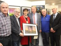 Paddy Stack of Kerry Astronomy Club, John Dolan of the Irish Astronomical Society and exhibition co-ordinator, Cathaoirleach of Kerry County Council Cllr Norma Foley, Cllr Jim Finucane, Steve Lynott of Kerry Dark Sky Reserve and Kerry County Librarian Tommy O'Connor  at the opening of the Images of Starlight Exhibition at Tralee Library on Thursday evening. Photo by Dermot Crean
