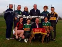Launching the night at the dogs in aid of Kerry LGFA.