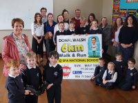 Elma Walsh joined staff and pupils at Spa NS on Thursday morning to launch the 2019 Donal Walsh Spa 6k Challenge.