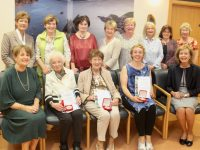 Members of Tralee and Spa/Fenit branches at the Kerry Hospice Foundation Sunflower Heroes Awards on Thursday night. In front; Mairead Moriarty, Eileen Brosnan, Pearl Browne, Lisa McElligott and Marie McSwiney. At back; Margaret O'Shea, Bridie O'Connor, Mary Shanahan, Ita Behan, Margaret Crean, Norma Lee, Christine Gallagher and Mary Kelly. Photo by Dermot Crean