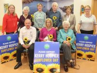 Launching Sunflower Day were Palliative Day Unit were, in front; Joe Hennebery, Deirdre Walsh and Breda Moynihan. At back; Andrea O'Donoghue, Ruth Bowler, Maura Sullivan, Pat Doolan Margaret O'Shea and Patricia Heffernan. Photo by Dermot Crean