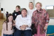 Cllr Terry O'Brien with children Mark and Mille, wife Teresa and mother Mary. Photo by Dermot Crean