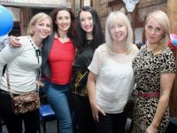 Maryanne Lowney, Treasa Murphy, Aisling O'Brien, Fiona Stack and Elaine Kinsella enjoying a Radio Kerry night out/birthday party on Friday. Photo by Dermot Crean