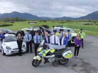 Killarney gardaí with organisers of the International Rally of the Lakes.