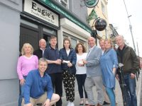 At the presentation of cheques on Wednesday night, the proceeds of pub theatre nights at The Ballymac Bar were; Eileen Moynihan, John Creagh (Ballymac Bar) Tommy Sweeney, Pat Creagh (Ballymac Bar), Sinead Brassil (NOVAS/Knocklee House), Kathriona Sheehan (Rosemary Centre), Frank Houlihan, John Fraher, Gillian Wharton and John Foran. Photo by Dermot Crean
