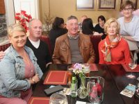 Mary Harris, Sean Harris, Mike McDonnell, Martina McDonnell and Fiona Kirby at the 'Arrival Of Summer' celebration at Kirby's Brogue Inn on Wednesday night. Photo by Dermot Crean