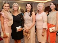 Dawn Lynch, Caroline Nolan, Claire Kelly, Siobhan Whyte and Sinead O'Mahony at the Connect Kerry Women In Business Awards at The Rose Hotel on Friday night. Photo by Dermot Crean